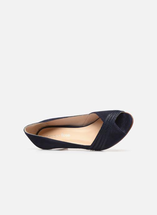 Zapatos de tacón Georgia Rose Lucina Azul vista lateral izquierda