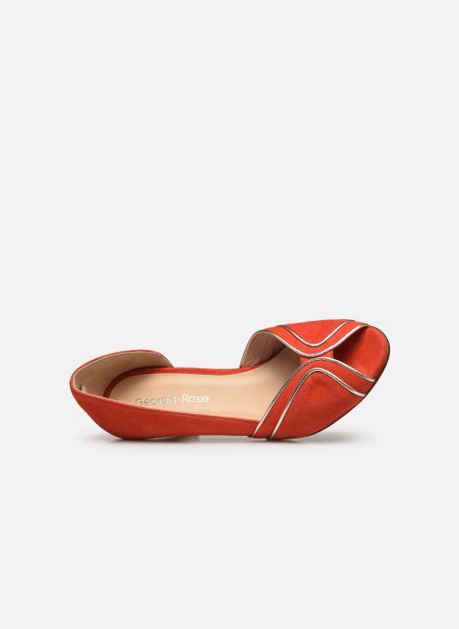 Zapatos de tacón Georgia Rose Lorima Rojo vista lateral izquierda