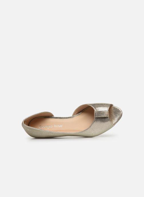 Zapatos de tacón Georgia Rose Laurinette Oro y bronce vista lateral izquierda