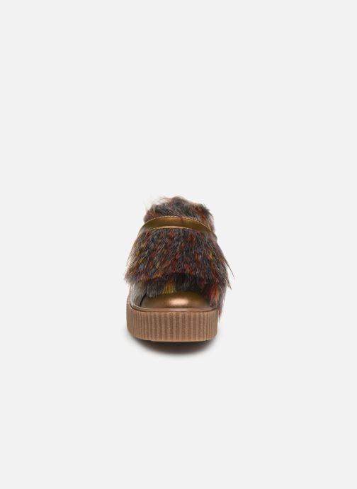 Baskets Gioseppo 41140 Or et bronze vue portées chaussures
