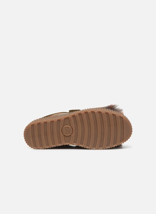Baskets Gioseppo 41140 Or et bronze vue haut