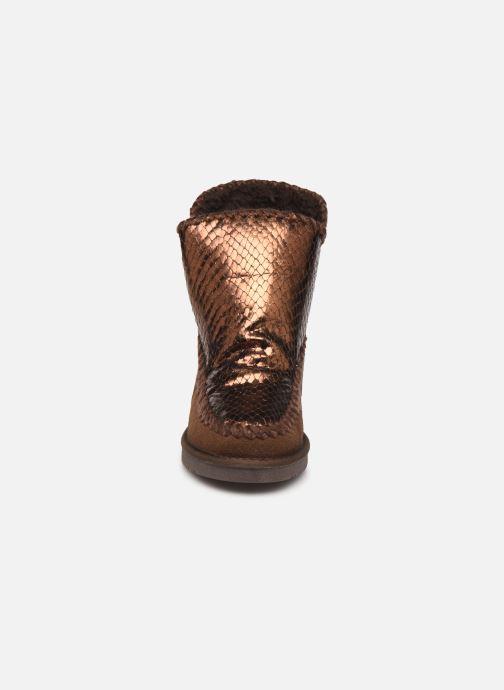 Stivaletti e tronchetti Gioseppo 46461 Oro e bronzo modello indossato