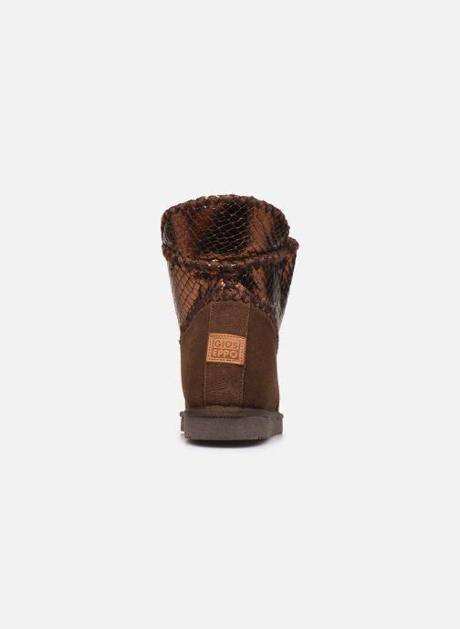 Bottines et boots Gioseppo 46461 Or et bronze vue droite