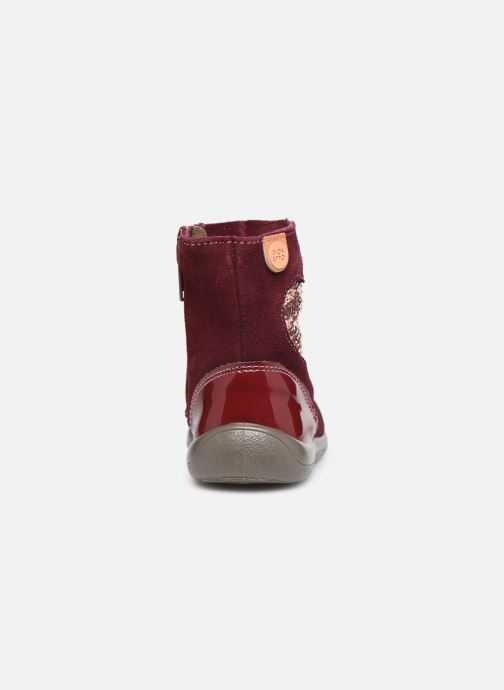 Ankle boots Gioseppo 46657 Burgundy view from the right