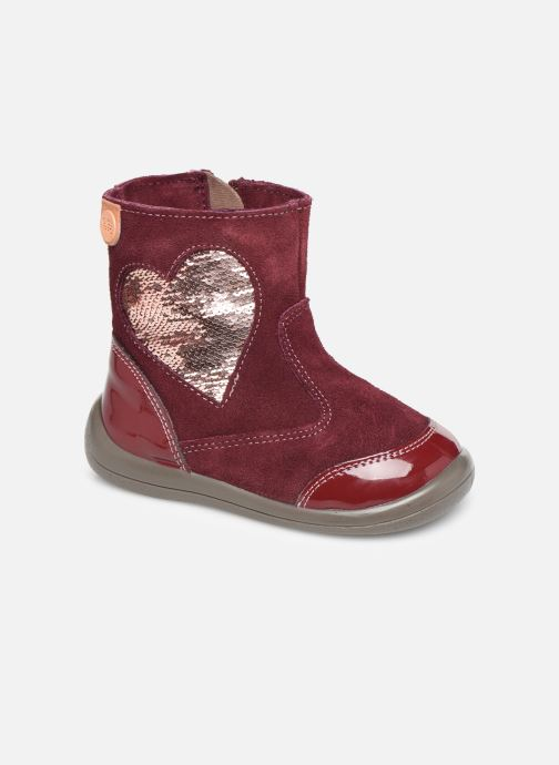 Ankle boots Gioseppo 46657 Burgundy detailed view/ Pair view