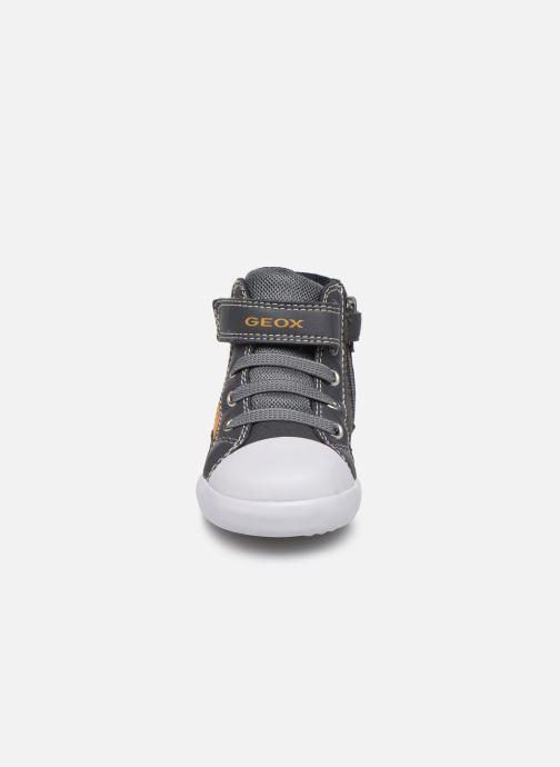 Sneaker Geox B Gisli Boy  B741NA grau schuhe getragen