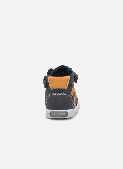 Sneaker Geox B Gisli Boy  B741NA grau ansicht von rechts