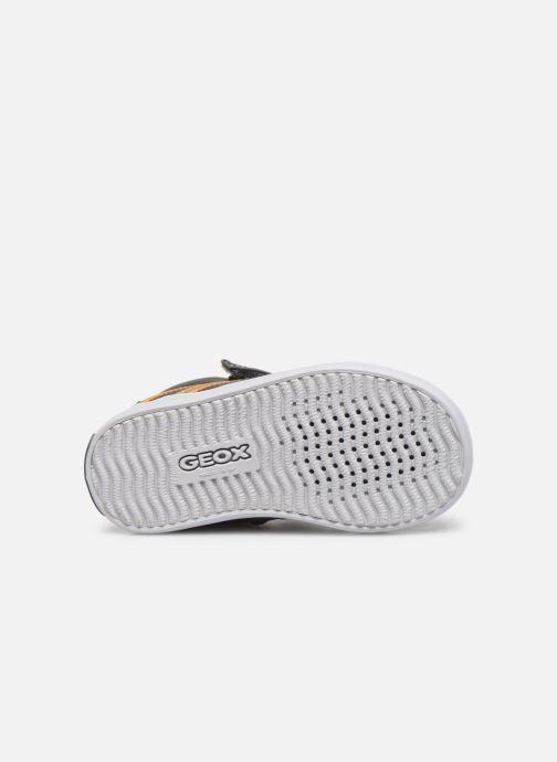 Sneaker Geox B Gisli Boy  B741NA grau ansicht von oben