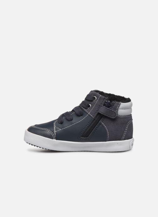 Sneaker Geox B Gisli Boy  B741NB grau ansicht von vorne