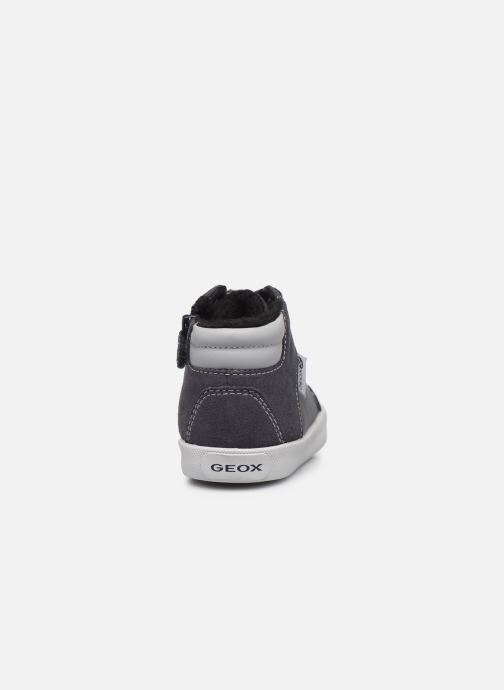 Sneaker Geox B Gisli Boy  B741NB grau ansicht von rechts