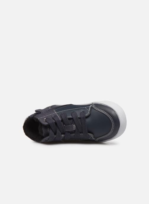 Sneaker Geox B Gisli Boy  B741NB grau ansicht von links