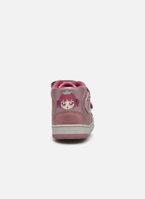 Baskets Geox B New Flick Girl C Rose vue droite