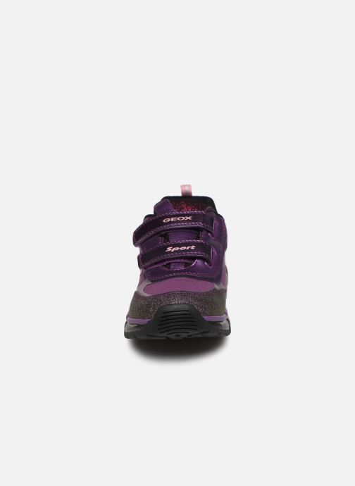 Baskets Geox J Android Girl J8445A Violet vue portées chaussures