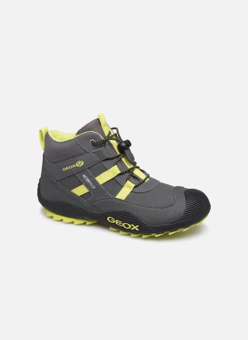 Bottines et boots Geox J Atreus Boy B WPF J847GA Gris vue détail/paire