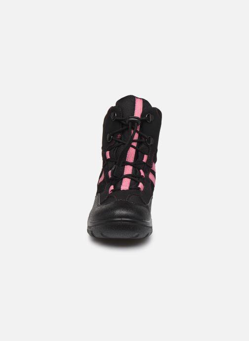 Bottines et boots Geox J Clady Girl B WPF J745NB Noir vue portées chaussures