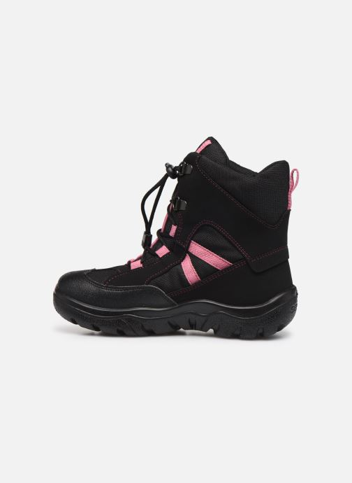 Bottines et boots Geox J Clady Girl B WPF J745NB Noir vue face