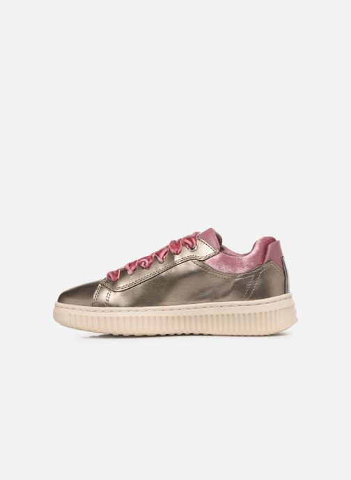 Trainers Geox J Discomix Girl J847YB Bronze and Gold front view