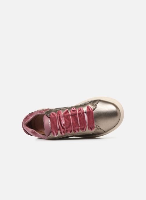 Sneaker Geox J Discomix Girl J847YB gold/bronze ansicht von links