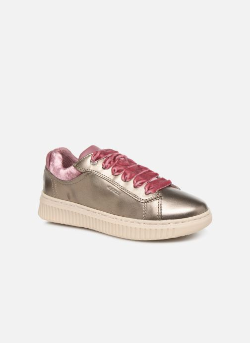 Trainers Geox J Discomix Girl J847YB Bronze and Gold detailed view/ Pair view