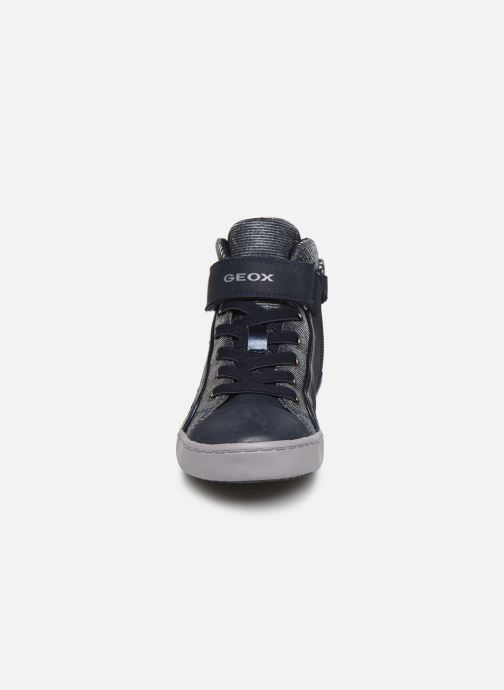 Baskets Geox J Gisli Girl J744NA Bleu vue portées chaussures