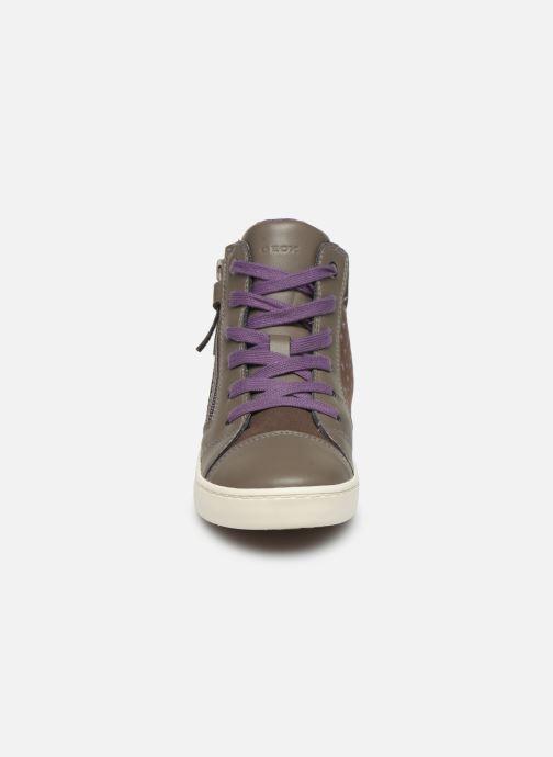 Baskets Geox J Gisli Girl J744NB Gris vue portées chaussures
