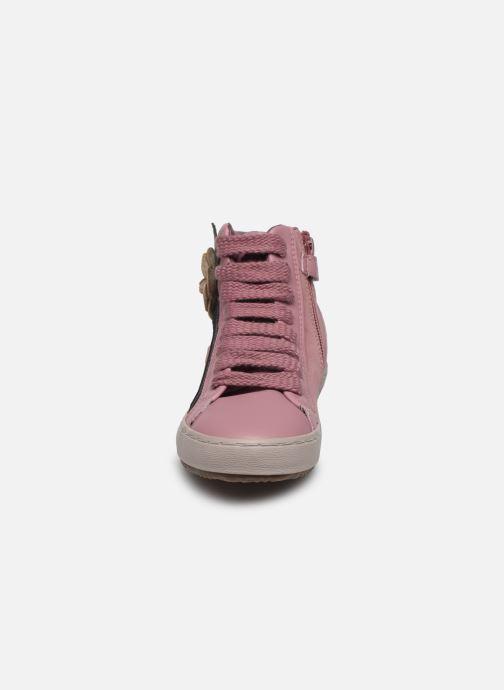 Baskets Geox J Kalispera Girl J844GC Rose vue portées chaussures
