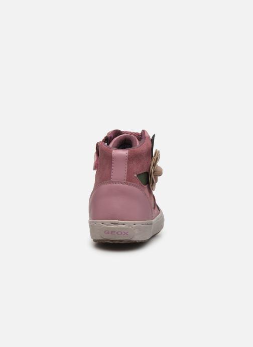 Sneakers Geox J Kalispera Girl J844GC Roze rechts