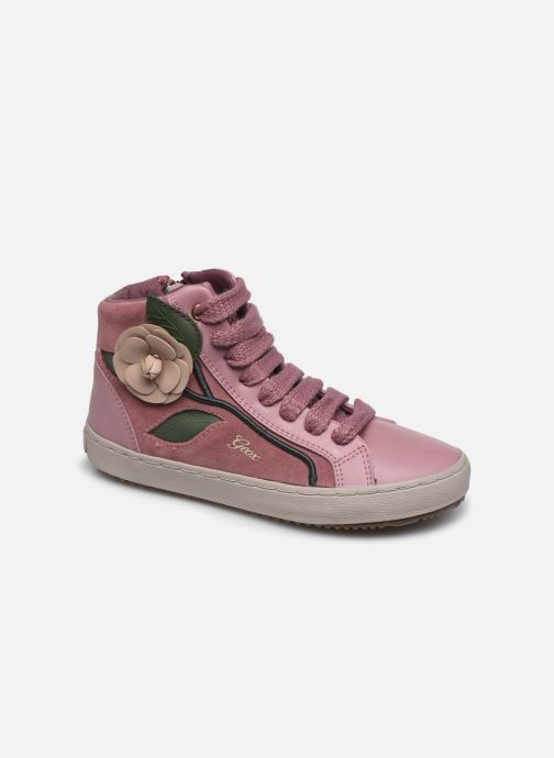 Baskets Geox J Kalispera Girl J844GC Rose vue détail/paire