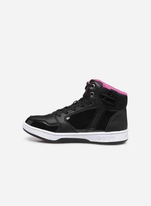 Baskets Geox J Maltin Girl J8400A Noir vue face