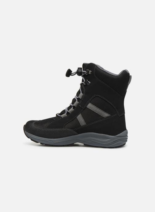 Bottines et boots Geox J New Alaska Boy J847PD Noir vue face