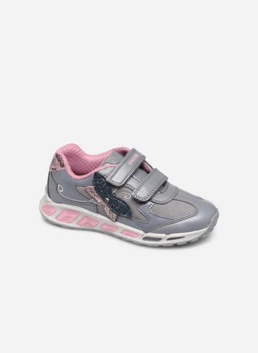Baskets Geox J Shuttle Girl J8406A Gris vue détail/paire