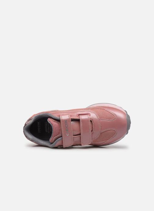 Sneakers Geox J Shuttle Girl J8406A Rosa immagine sinistra