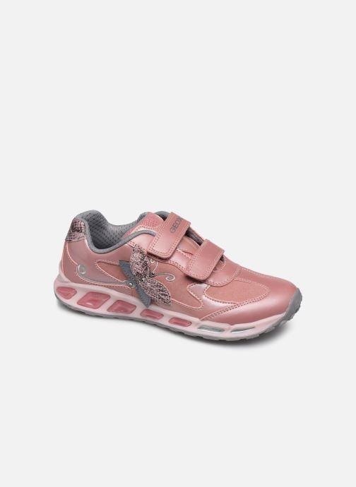 Sneaker Geox J Shuttle Girl J8406A rosa detaillierte ansicht/modell