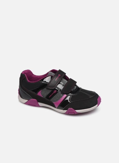 Trainers Geox JR Tale J8421A Black detailed view/ Pair view