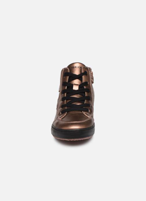 Baskets Geox J Kalispera Girl J844GB Or et bronze vue portées chaussures