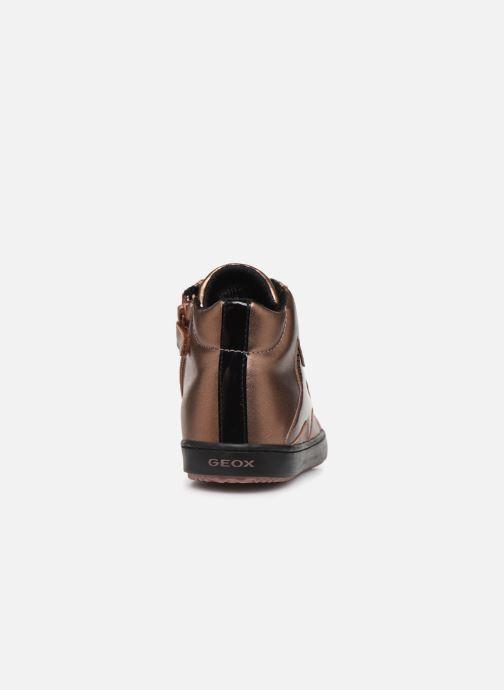 Sneakers Geox J Kalispera Girl J844GB Goud en brons rechts