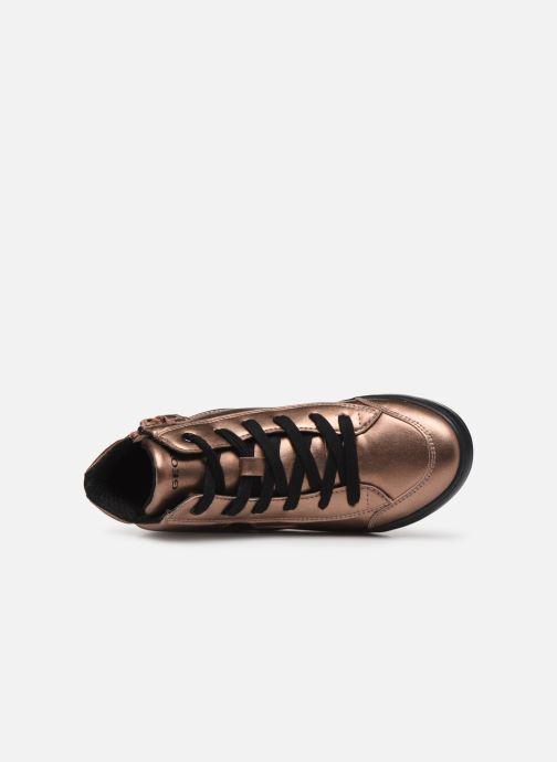 Sneakers Geox J Kalispera Girl J844GB Goud en brons links
