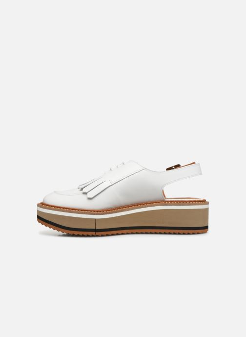 Mocasines Clergerie BUNNY Blanco vista de frente