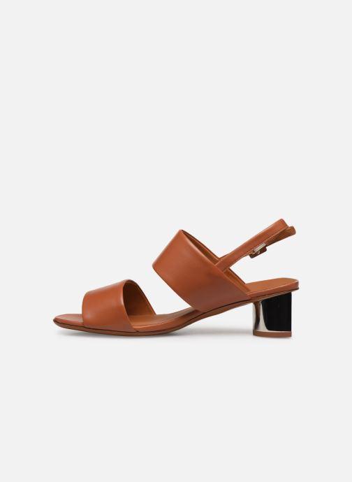 Sandali e scarpe aperte Clergerie LEONIE Marrone immagine frontale