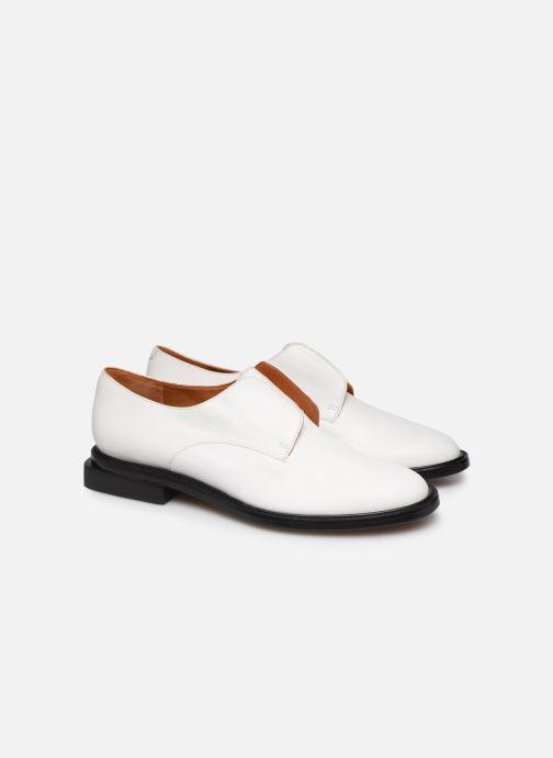 Zapatos con cordones Clergerie RAYANNE Blanco vista 3/4