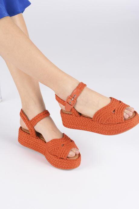 Sandali e scarpe aperte Clergerie ALDA Arancione immagine dal basso