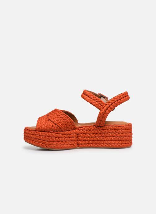 Sandali e scarpe aperte Clergerie ALDA Arancione immagine frontale
