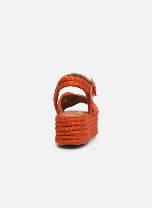 Sandali e scarpe aperte Clergerie ALDA Arancione immagine destra