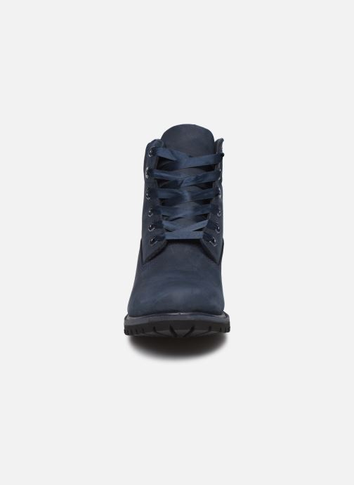 Bottines et boots Timberland 6in Premium WP Boot L/F Bleu vue portées chaussures