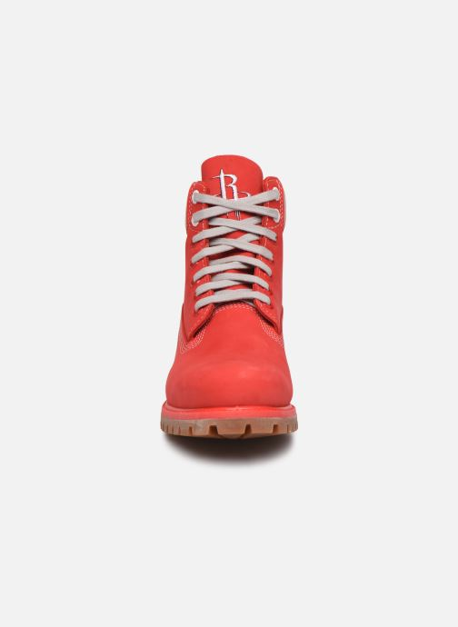 Bottines et boots Timberland 6 in Premium Boot Rouge vue portées chaussures