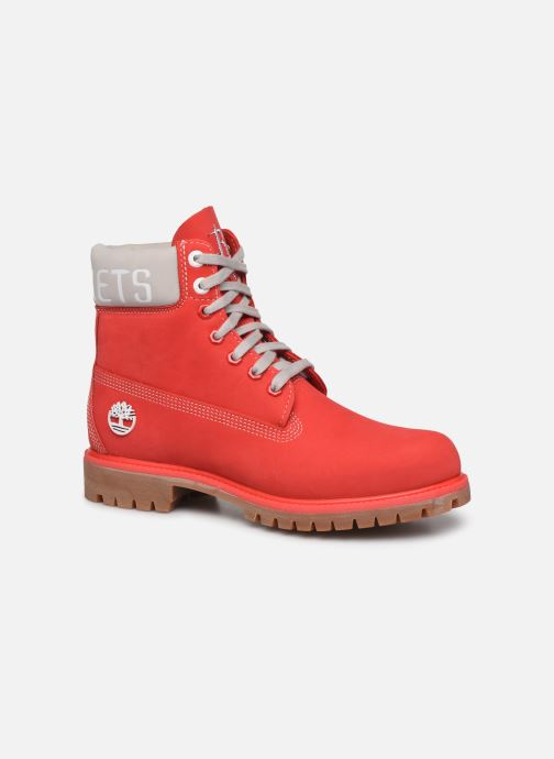 Bottines et boots Timberland 6 in Premium Boot Rouge vue détail/paire