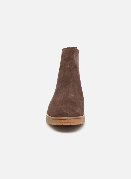 Bottines et boots Timberland Folk Gentleman Chelsea Marron vue portées chaussures