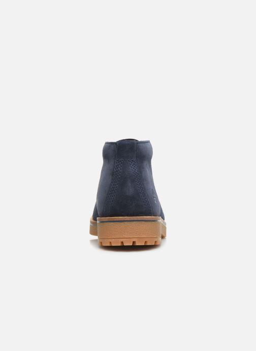 Bottines et boots Timberland Folk Gentleman Chukka Bleu vue droite