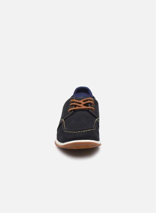 Zapatos con cordones Timberland Heger's Bay 3 Eye Boat Azul vista del modelo