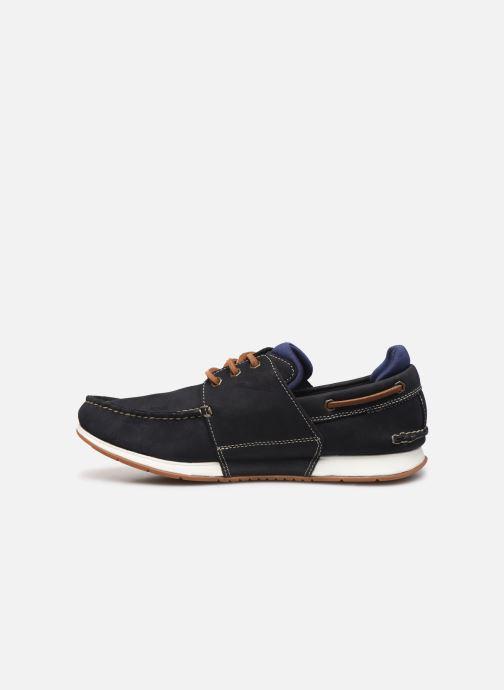 Zapatos con cordones Timberland Heger's Bay 3 Eye Boat Azul vista de frente